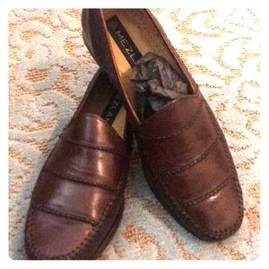 Mezlan brown leather loafers